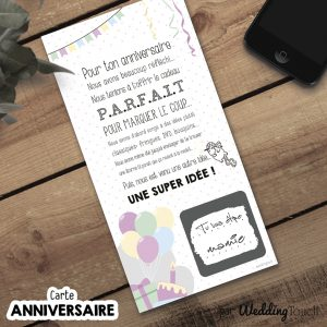 carte a gratter annonce grossesse anniversaire