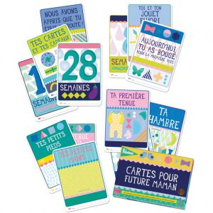 cartes grossesse milestone cards