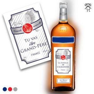 annonce grossesse etiquette bouteille Ricard famille